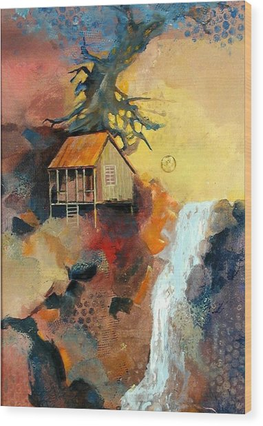 Forest Bungalow Wood Print