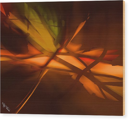 Forest Fire Wood Print by Rick Thiemke