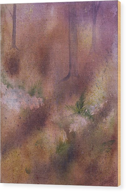 Forest Floor Wood Print by Debbie Homewood