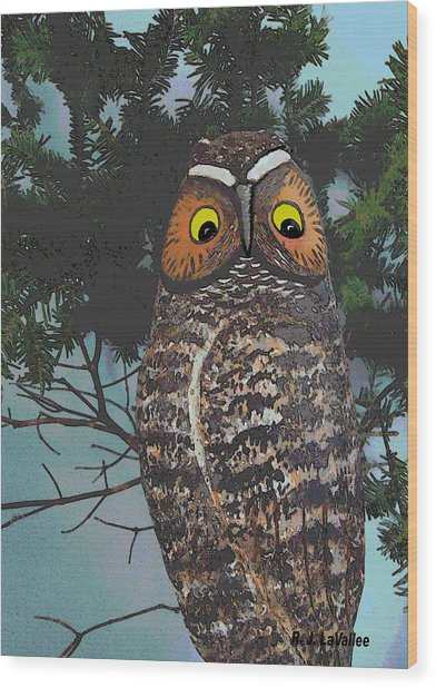 Forest Owl Wood Print