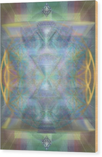 Forested Chalice II In The Flower Of Life And Vortexes Wood Print
