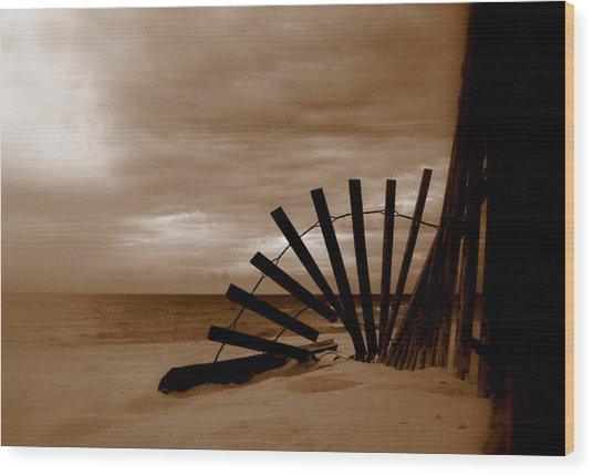 Forgotten Beach Wood Print