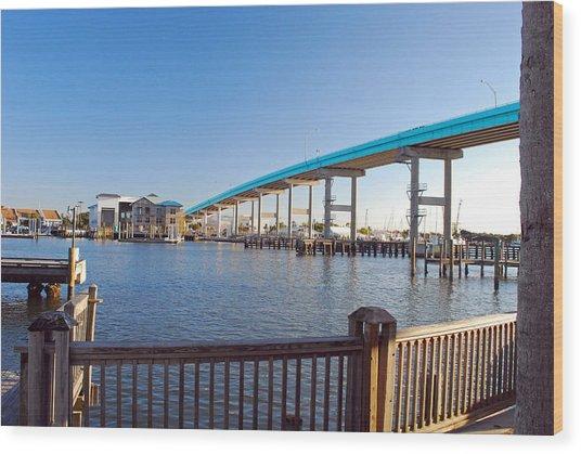 Fort Myers Bridge Wood Print