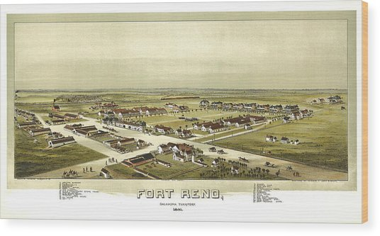 Fort Reno Oklahoma Territory 1891 Wood Print by Donna Leach