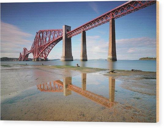 Forth Rail Bridge Wood Print by Stu Meech