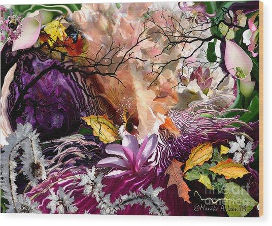 Four Seasons Wood Print
