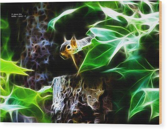 Fractal - Peek A Boo II - Robbie The Squirrel - 8242 Wood Print