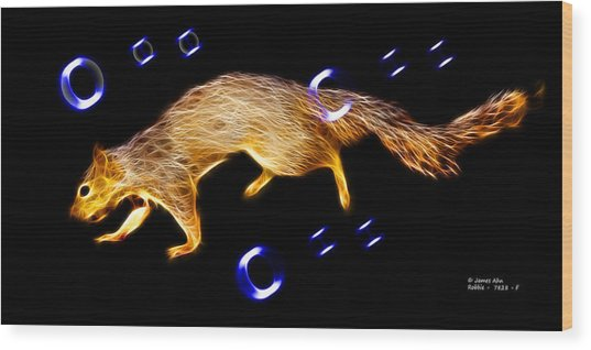 Fractal - Searching -  Robbie The Squirrel -7828 Wood Print