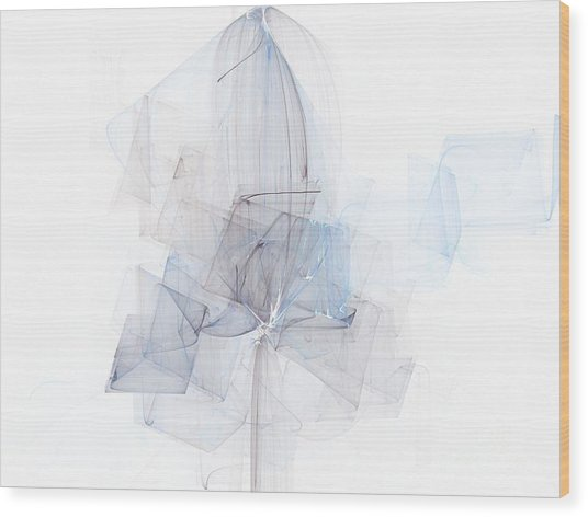 Fragile Blue Essence Wood Print