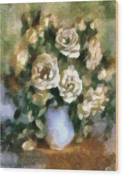 Fragrant Roses Wood Print by Georgiana Romanovna