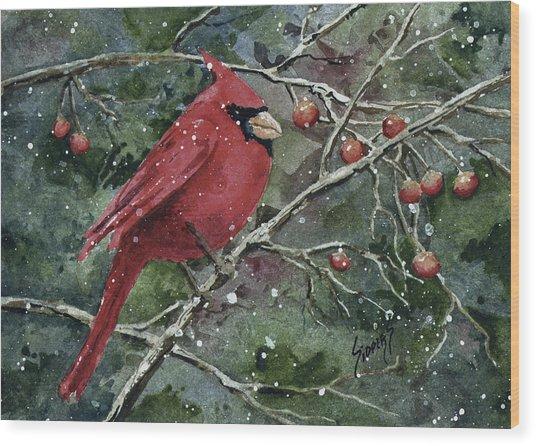 Franci's Cardinal Wood Print