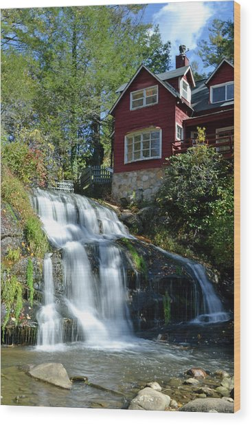 French Broad River Falls  Wood Print