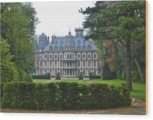 French Country Mansion Wood Print