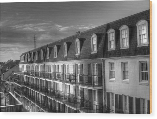 French Quarter Balconies Wood Print
