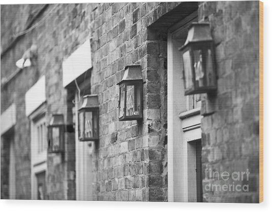 French Quarter Lamps Wood Print