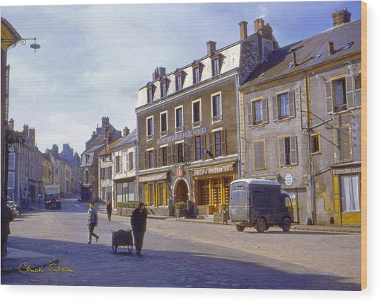 French Village Wood Print
