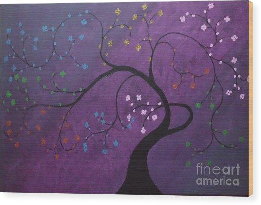 Fresh Blooms Wood Print by Dawn Plyler