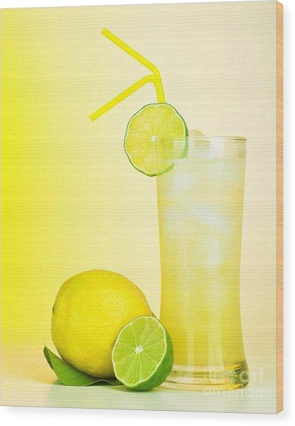 Fresh Lemon Juice Wood Print by Anna Om