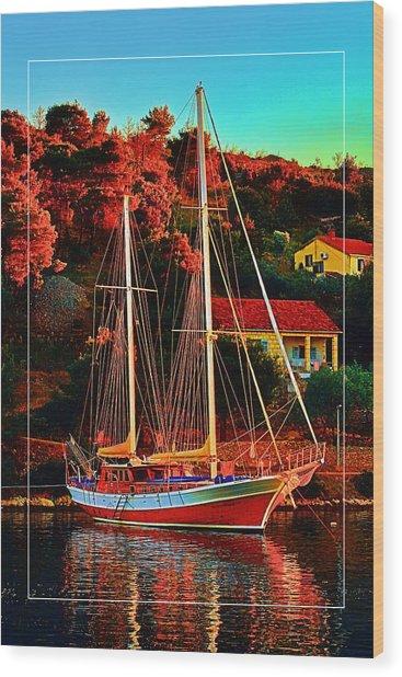 Fresh Sail  Wood Print by Gennadiy Golovskoy