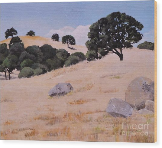 Fresno Foothills Wood Print