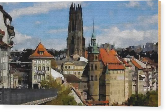 Fribourg Switzerland Wood Print