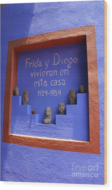 Frida Kahlo Museum Mexico City Wood Print