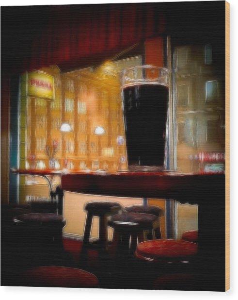 Friday Night Beer Wood Print