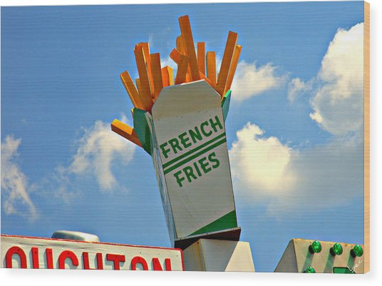Fries In The Sky Wood Print by Bruce Carpenter