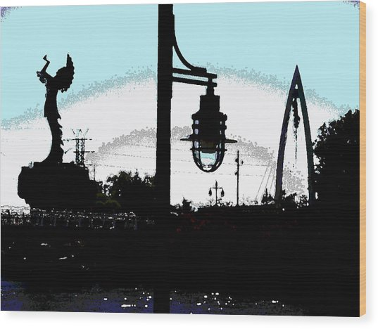 From A Distance Wood Print by David Alvarez