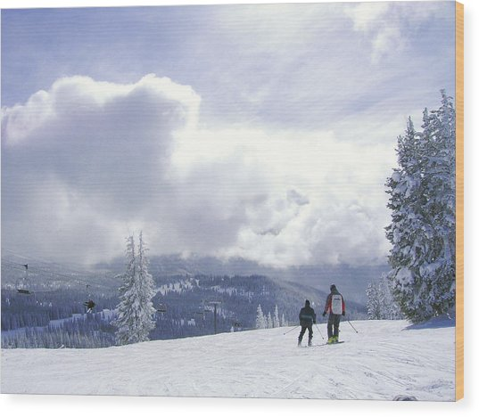 from the top of Sunshine chair Wood Print