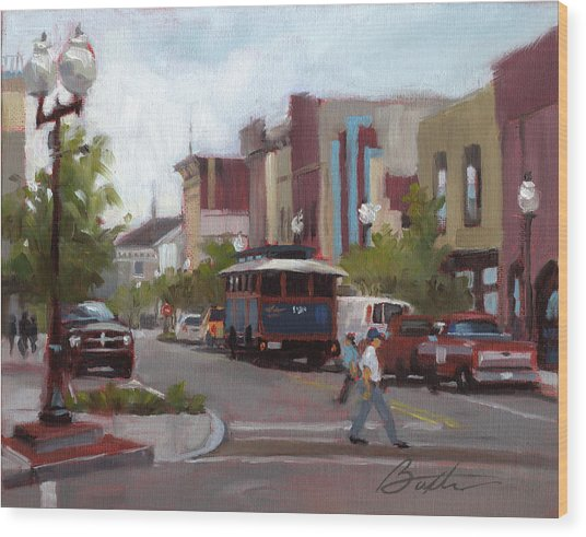 Front Street Wood Print by Todd Baxter