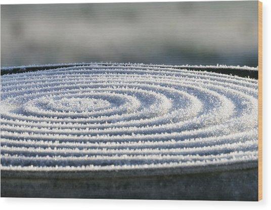 Frosty Swirls Wood Print