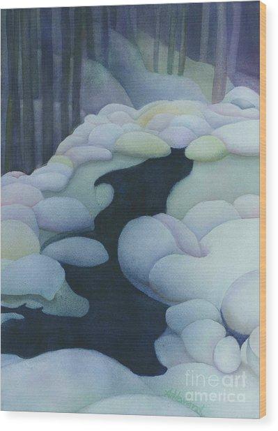 Frozen Brook Wood Print