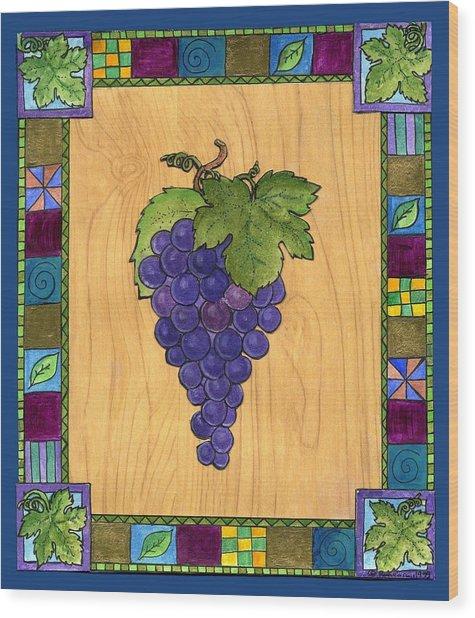 Fruit Of The Vine Wood Print by Pamela  Corwin