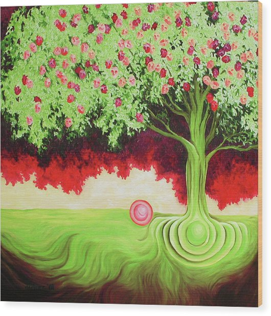Fruit Tree Wood Print