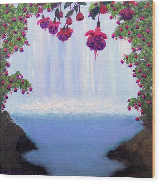 Fuchsia Falls Wood Print