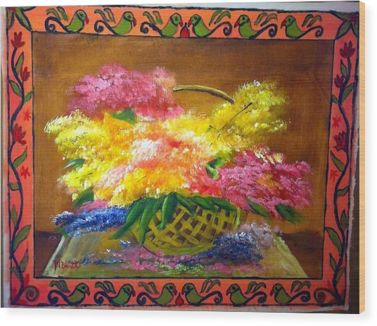 Fun With Colors Wood Print by M Bhatt