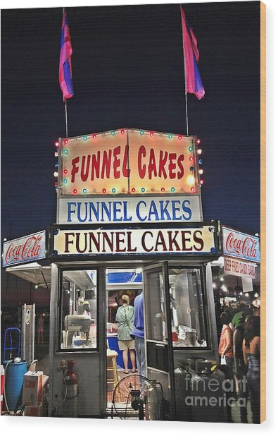 Funnel Cakes Wood Print by Joan Meyland