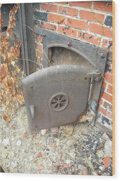 Furnace Door Wood Print