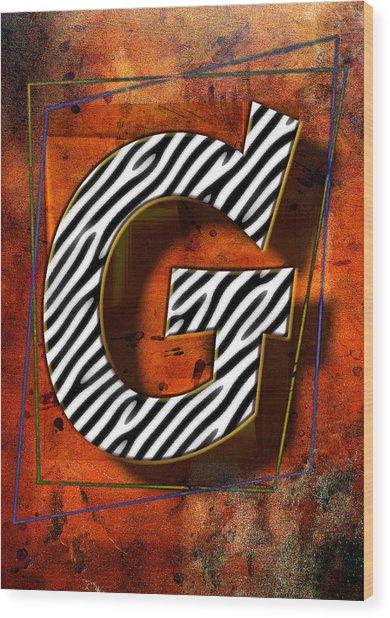 G Wood Print