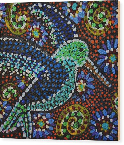 Gamas Humming Bird Wood Print