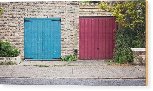 Garage Doors Wood Print