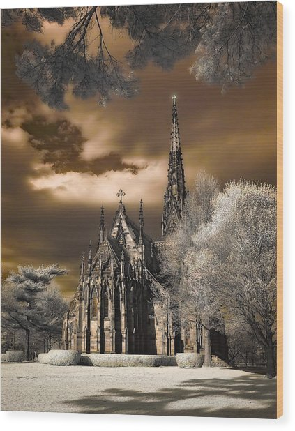 Garden City Cathedral Wood Print
