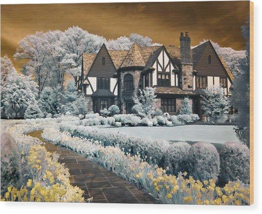 Garden City Tudor Wood Print