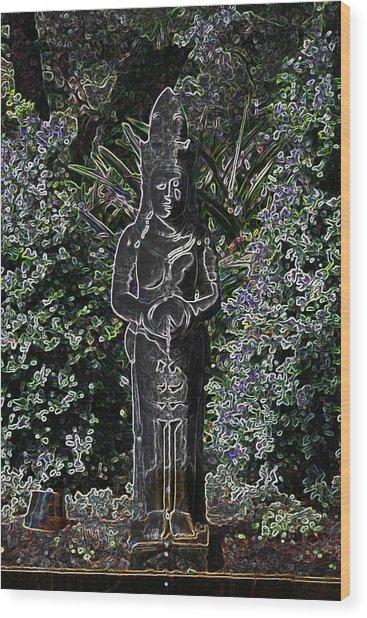 Garden Goddess Wood Print