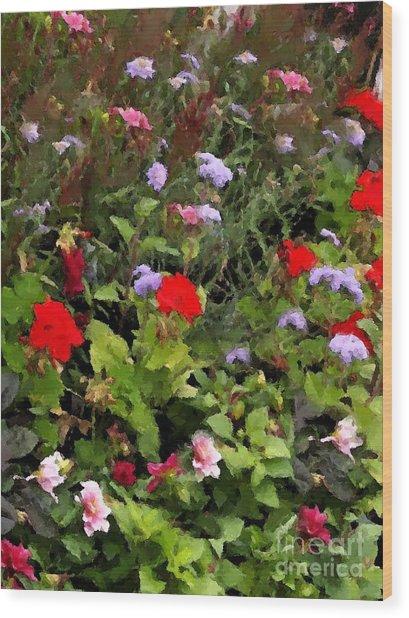 Garden In Creamery Wood Print
