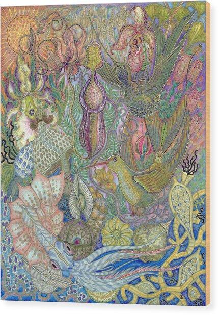 Garden Of Eden - Birds Wood Print