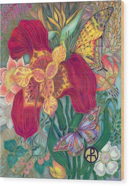 Garden Of Eden - Flower Wood Print