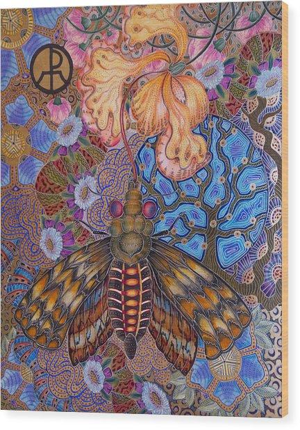 Garden Of Eden - Moth Wood Print