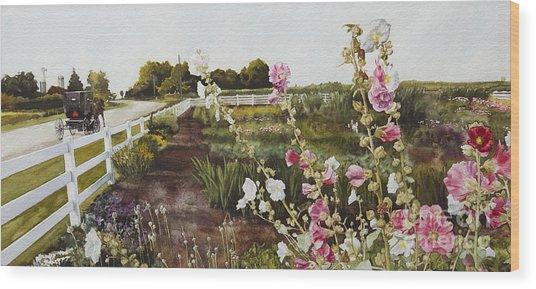 Garden Of Edith Wood Print
